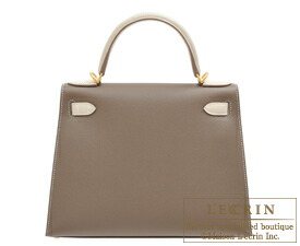 b61cb6d01cab Hermes Kelly bag 28 Sellier Etoupe grey Craie Epsom leather Matt gold  hardware ...