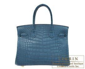 Hermes Birkin Bag 30 Colvert Matt Alligator Crocodile Skin Gold