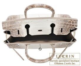 Hermes Birkin bag 30 Himalaya Matt niloticus crocodile skin Silver hardware