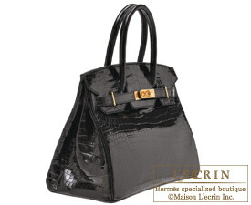 81b4110385be8 Lecrin Boutique Tokyo  Hermes Birkin bag 30 Black Porosus crocodile ...