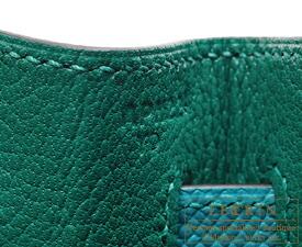 エルメス パーソナルケリー32/内縫い マラカイト/ブルーパオン ヴォーエプソン マットシルバー金具