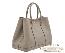 garden party hermes. Hermes Garden Party Bag TPM Gris Asphalt Country Leather Silver Hardware