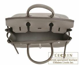 Hermes Birkin bag 30 Etain/Etain grey Togo leather Silver hardware