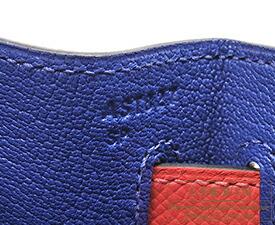 エルメス パーソナルケリー32/外縫い ブルーエレクトリック/ローズジャイプール ヴォーエプソン シルバー金具