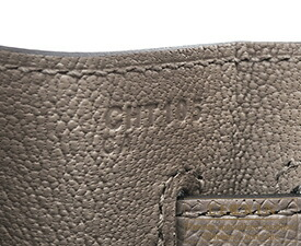 エルメス ケリー32/外縫い グリアスファルト ヴォーエプソン ゴールド金具