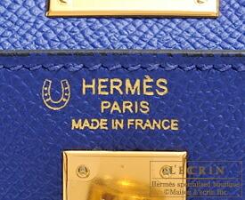 エルメス パーソナルケリー25/外縫い ブルーエレクトリック/クレ ヴォーエプソン ゴールド金具