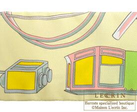 エルメス ツイリー 折畳み式幌の馬車 ジョーヌスフレ/ヴューローズ/ヴェール シルク