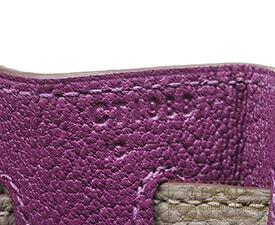 エルメス パーソナルケリー28/内縫い アネモネ/グリアスファルト トゴ シャンパンゴールド金具