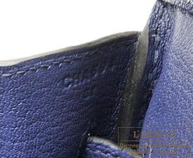 エルメス バーキン30 ブルーアンクル トゴ シルバー金具