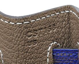 エルメス パーソナルケリー32/内縫い エトゥープ/ブルーエレクトリック ヴォーエプソン ゴールド金具