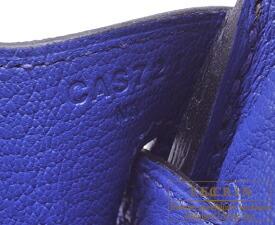 エルメス バーキン25 エタン/ブルーエレクトリック トゴ マットゴールド金具