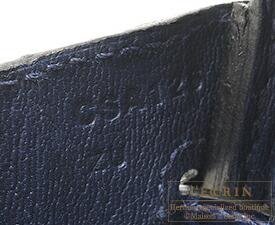エルメス バーキン25 ブルーサフィール クロコダイル ニロティカス ゴールド金具