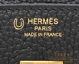 エルメス バーキン25 ブラック/ホワイト トリヨンクレマンス ゴールド金具