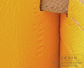 エルメス パーソナルケリー25/外縫い ジョーヌドール/グリアスファルト ヴォーエプソン マットゴールド金具