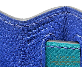 エルメス パーソナルケリー28/外縫い ブルーエレクトリック/ブルーパオン ヴォーエプソン マットゴールド金具