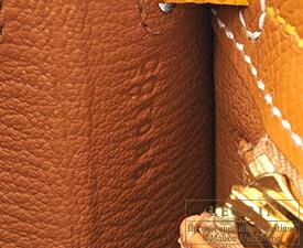 エルメス パーソナルケリー25/外縫い ゴールド/ジョーヌアンブル ヴォーエプソン マットゴールド金具