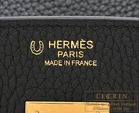 エルメス パーソナルバーキン30 ブラック/ホワイト トリヨンクレマンス ゴールド金具