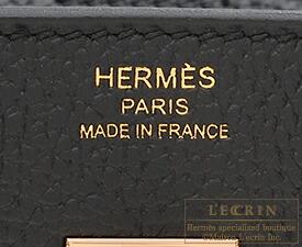 エルメス バーキン25 ブラック トゴ ローズゴールド金具