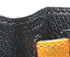 エルメス ケリー28/外縫い ブラック/ジョーヌドール ヴォーエプソン マットゴールド金具