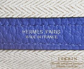 エルメス ガーデンパーティPM ブルーエレクトリック カントリー シルバー金具