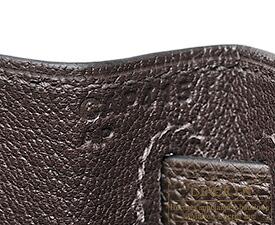 エルメス ケリー28/外縫い ショコラ ヴォーエプソン シルバー金具