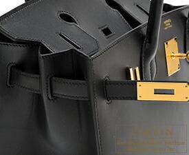 エルメス バーキンセリエ30 ブラック ムッシュ ゴールド金具