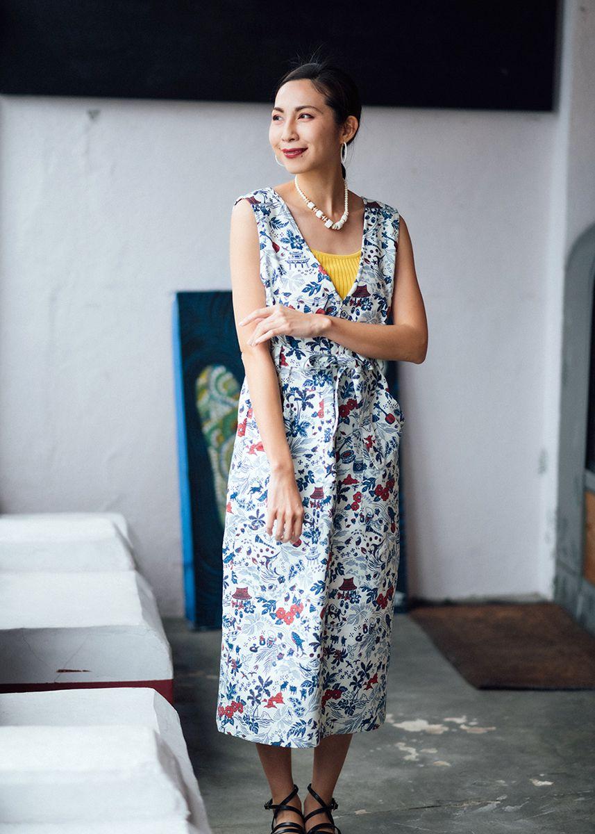 かりゆしウェア アロハシャツ かりゆし 結婚式 MAJUN マジュン オキナワンデイドリーム(ジャンパースカート)