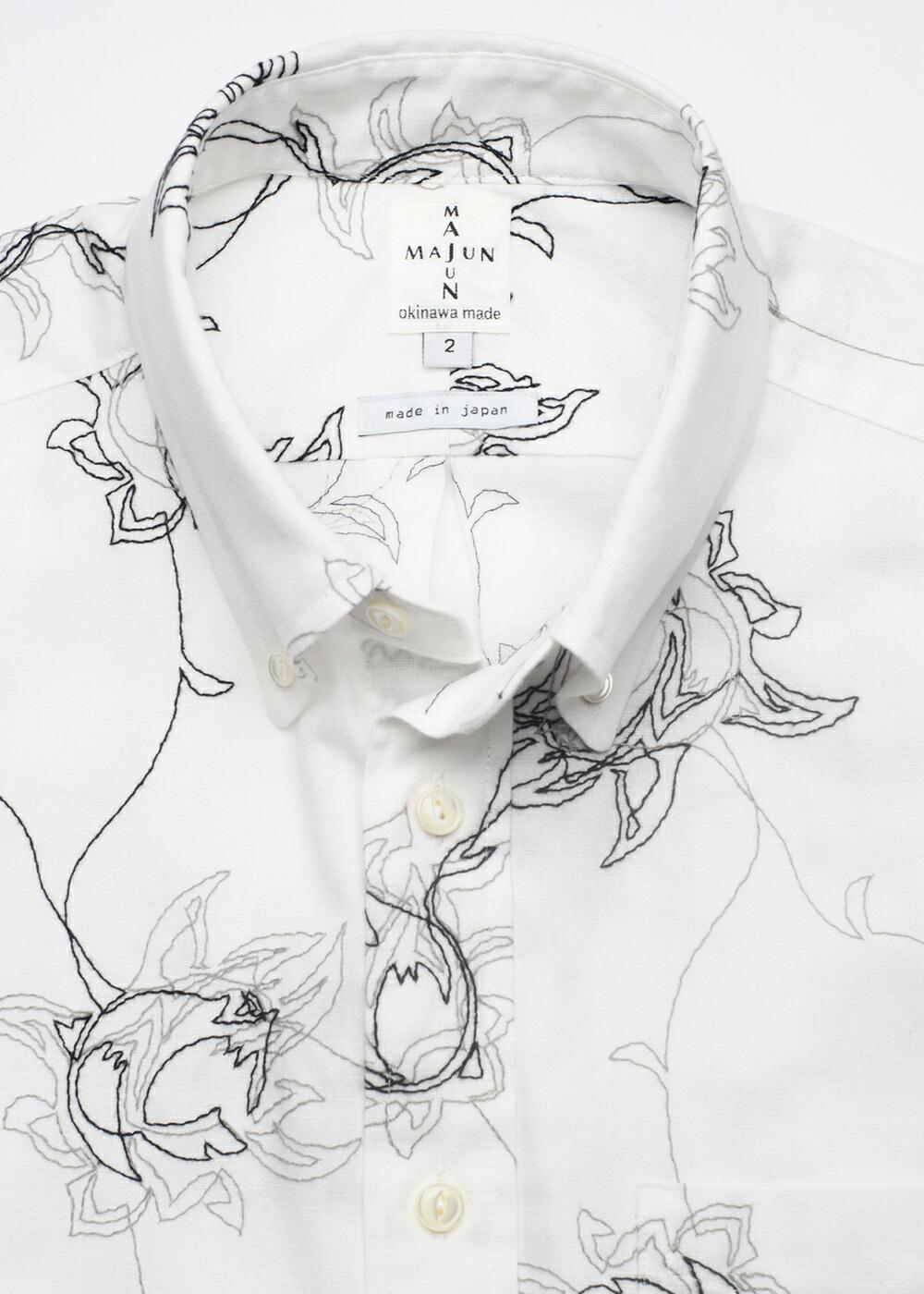 かりゆしウェア アロハシャツ かりゆし 結婚式 MAJUN マジュン エンブロイダリーボルドL/S