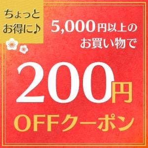 5000円以上で200円offクーポン