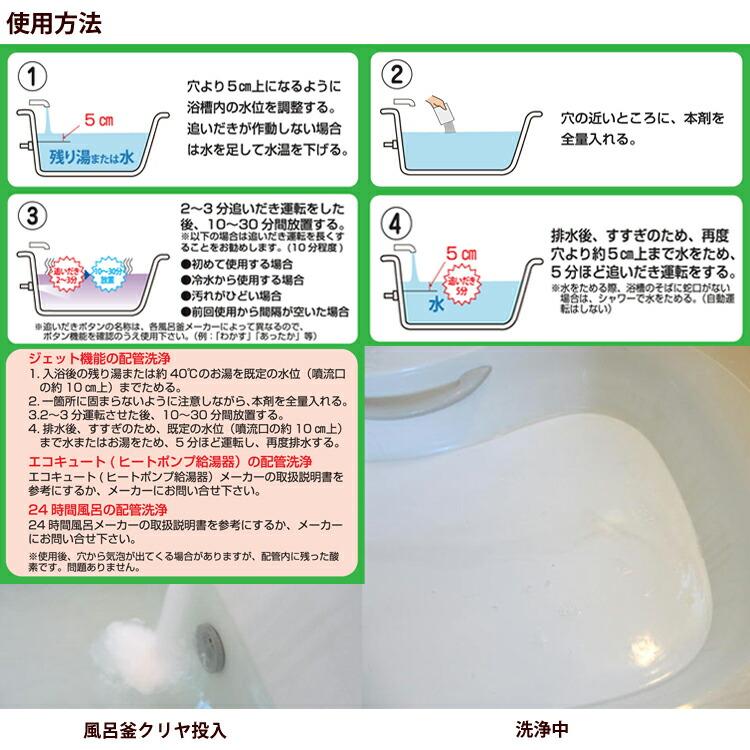 風呂釜 クリヤの使用方法