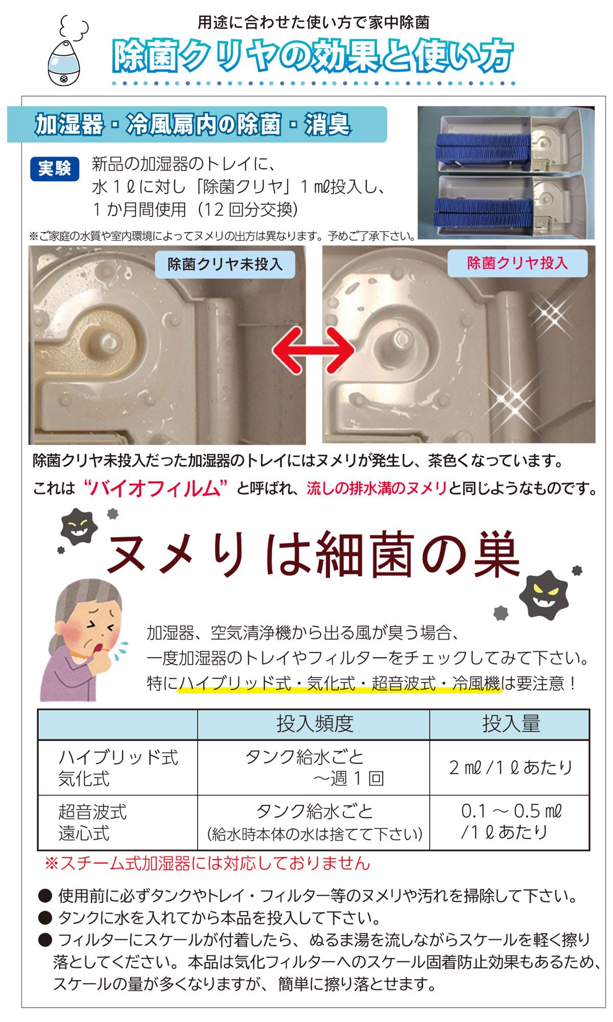 除菌クリヤの使い方1