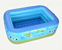 ODOLAND プール ファミリープール 3気室 中型 150*105*55cm クッション底 安  全安心的な品質 子供 水遊び 毎年大人気!家庭用プール 自宅でお庭や屋上 夏に勧め
