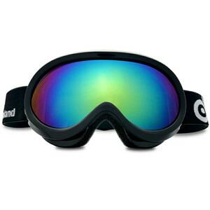 ODOLAND スキーゴーグル 防霧ダブルレンズ メガネ対応 UV400  晴れた日 小児適用【ブラック/ホワイト】