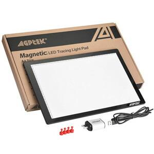 AGPtek A4トレース台 磁気式 マグネットピン付け