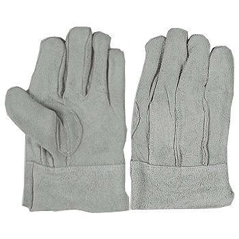 床革背縫い内綿革手袋 [10双入] 480 総革製