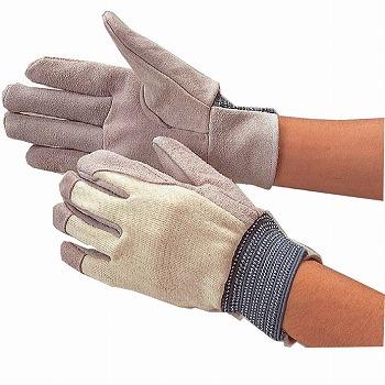 内縫い革手袋 甲メリヤス [200双入] 403 甲メリヤス(甲側布製)