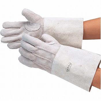溶接ロング床5指 革手袋 [120双入] 406 総革製