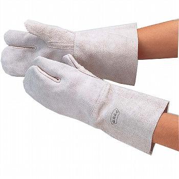 溶接ロング床3指 革手袋 [120双入] 405 総革製