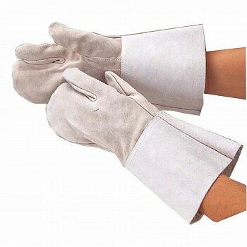 HK-3指長溶接用 革手袋 [10双入] 461 総革製