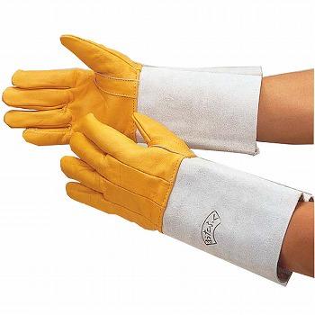 溶接用コンビ5指 革手袋 [120双入] 408 総革製