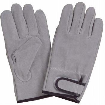 床革マジック止め革手袋 [10双入] 432 総革製