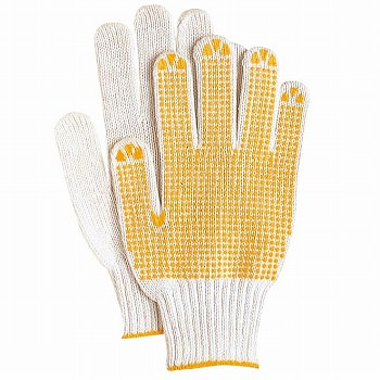 在庫処分特価 奉仕品スベリ止軍手 5双入×5セット [総数25双] 223 化学繊維 厚手