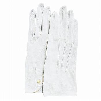 綿手袋 カーフレンドセームNo.1000(ホック付) [5双入] 1000 綿 マチ付き