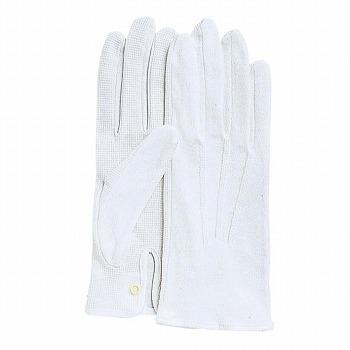 スベリ止付綿手袋 カーフレンドセームNo.3000(ホック付) [480双入] 3000 綿 マチ付き 滑り止め付き