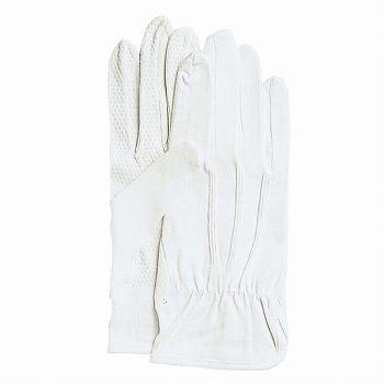 スベリ止付綿手袋 カーグローブNo.2000 [480双入] 2000 綿 マチ付き 滑り止め付き