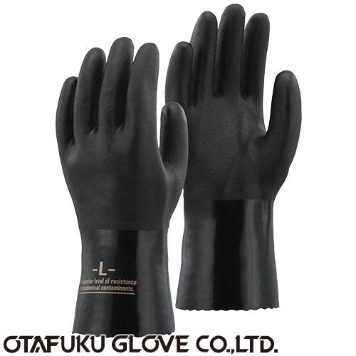 PVC オイルレジスタントグローブ  [5双入] A-207 ビニール手袋 裏布あり