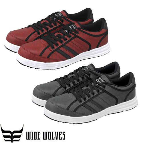 ワイドウルブズ ローカット 紐タイプ WW-304、WW-305 紐靴 JSAA規格 プロテクティブスニーカー