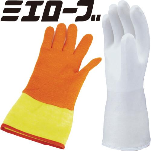 パイルミット(ホワイト) 二重防寒手袋 (インナー手袋着脱型) 5双セット 735