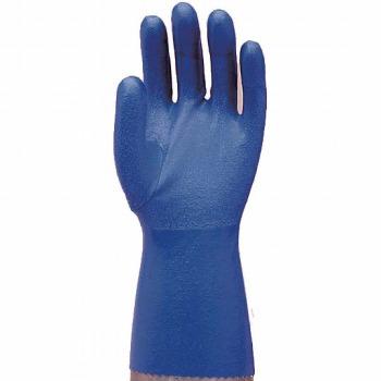 指先強化水産用手袋 (裏メリヤス) [10双入] No.631 ゴム手袋 裏布あり