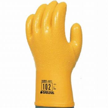 ダイローブ 防寒用 ポリウレタン製手袋 [10双入] 102 ゴム手袋 裏布あり